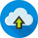 cloud, dropbox, status, storage, upload, uploading, web icon
