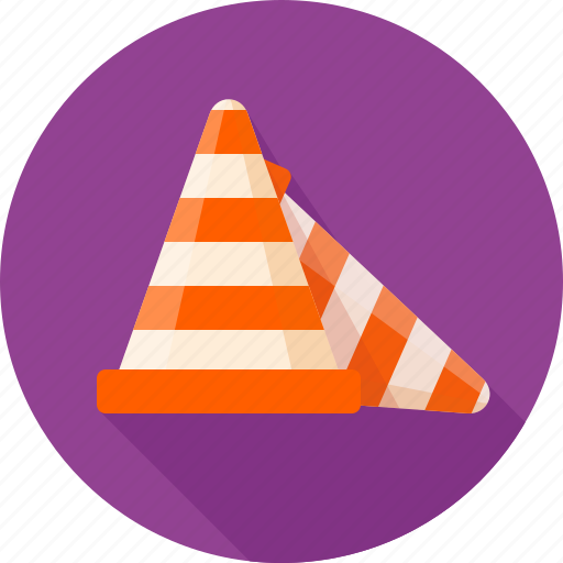 cone, fencing, road, signal, striped, сonstruction icon