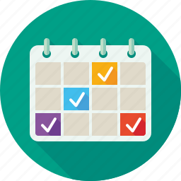 booking, calendar, date, events, inspection, period, planning icon