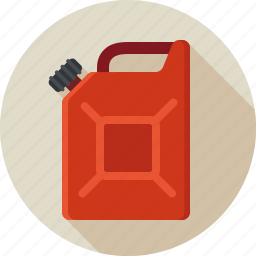 can, fuel, gas, jerrycan, petrol, reservoir, tank icon