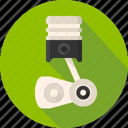 cylinder, engine, engine block, motor, piston, spares icon
