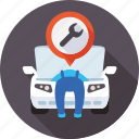 auto, diagnostics, motor, repairs, service, workshop icon