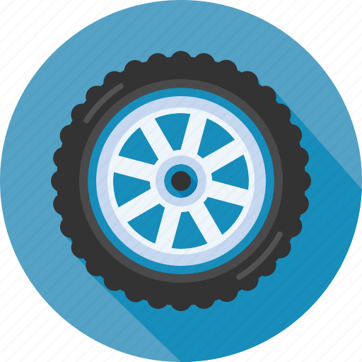 hubcap, rim, rotation, spare tire, tyre, wheel icon