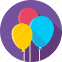 balloons, baloons, birthday, celebrate, day, holiday, party icon