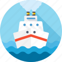 boat, cruise, sea, ship, transport, travel, voyage icon