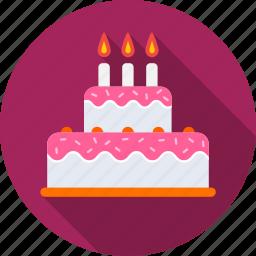 birthday, birthday cake, cake, dessert, food, happy birthday, sweet icon