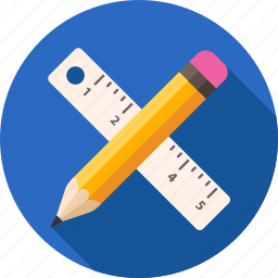 draw, drawing, paint, painting, pencil, ruler, tools icon
