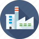 building, corporate, factory, industry, manufacturer, production, work icon