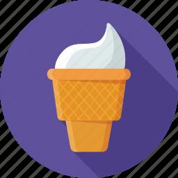 cold, cone, dessert, ice, ice cream, ice cream cone, sweet icon