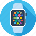 apple, clock, iwatch, swatch, technology, time, watch icon