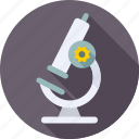 analysis, biology, laboratory, magnifier, microscope, research, science icon