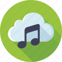 cloud, music, music storage, playlist, songs, soundtracks, storage icon