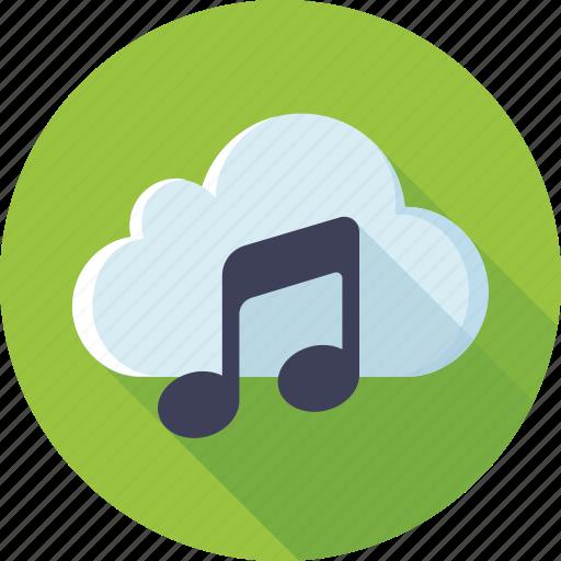 cloud, music, music storage, playlist, songs, soundtracks, storage icon