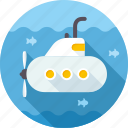 boat, ocean, ship, submarine, underwater, vessel icon