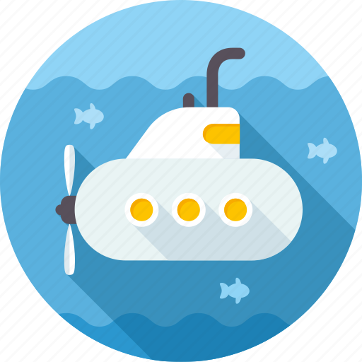 boat, ocean, ship, submarine, underwater, vessel icon