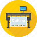 cut, cutting, cutting plotter, equipment, plotter, print icon