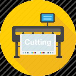 cut, cutting, cutting plotter, equipment, plotter, print icon