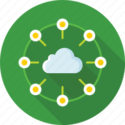 cloud, communication, connection, internet, network, social icon