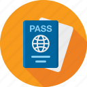 airport, document, id, pass, passport, ticket icon