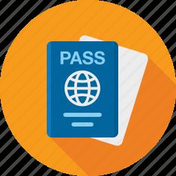 airport, document, id, pass, passport, ticket icon