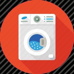 cleaning, machine, washing, washing machine, washing powder, washroom icon