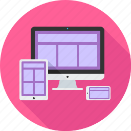 adaptive, design, devices, responsive, web icon