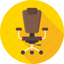 chair, computer chair, interior, office, seat icon