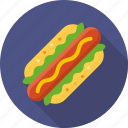 eating, fast food, food, hot, hot dog icon