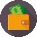 bank, dollars, money, pay, purse icon