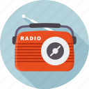 radio station, music, play, radio, retro