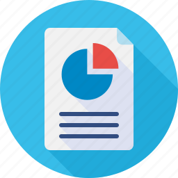 doc, document, file, pie chart, report icon