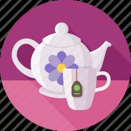 cup, green tea, tea, tea party, teapot, сeylon icon