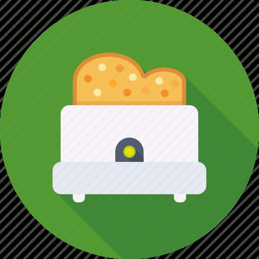 bread, breakfast, kitchen, toast, toaster icon