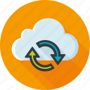 sync, cloud, update, refresh, arrow
