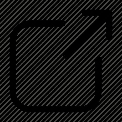 expand, maximise, send, share, transfer icon