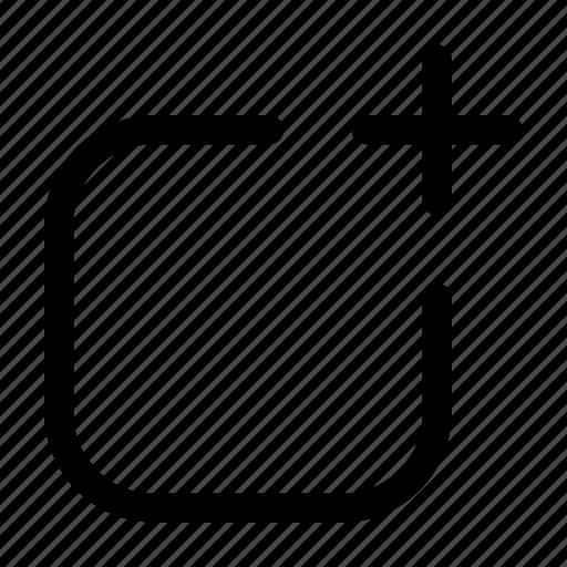 artboard, create, file, new, post icon