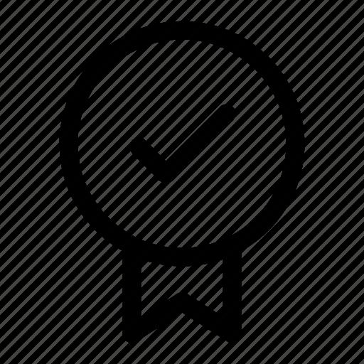 badge, checked, quality, reward, verified icon