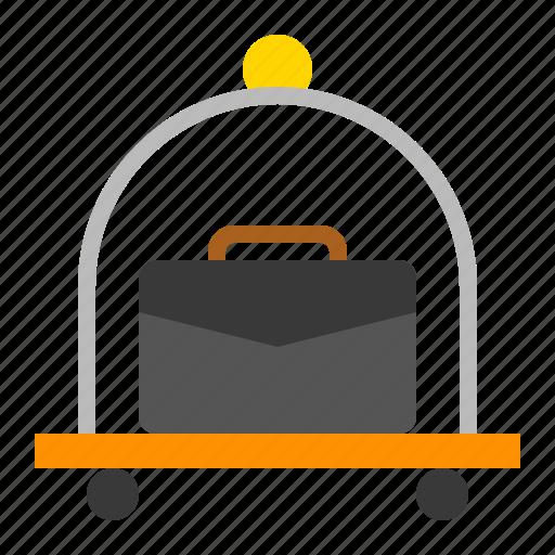 bag, cart, luggage trolley, luguage, travel icon