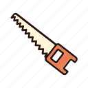 axe, equipment, lumberjack, saw, timber, wood, woodcutter icon