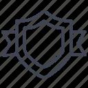 ribbon, shield, achievement, award, medal, prize