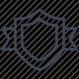 achievement, award, medal, prize, ribbon, shield icon