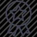 ribbon, star, award, badge, favorite, prize