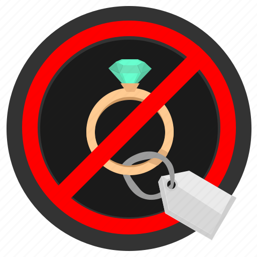 ban, buy, cancel, luxury, present, ring, stop icon