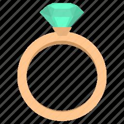 brilliant, diamond, jewelry, luxury, rich, ring, stone icon