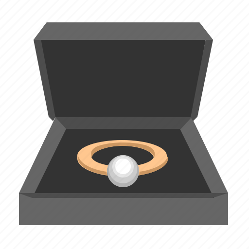 luxury, pearl, present, rich, ring, stone icon