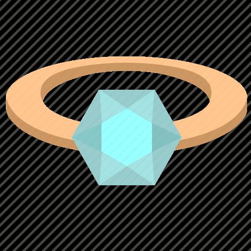 brilliant, diamond, jewelry, luxury, ring, stone icon