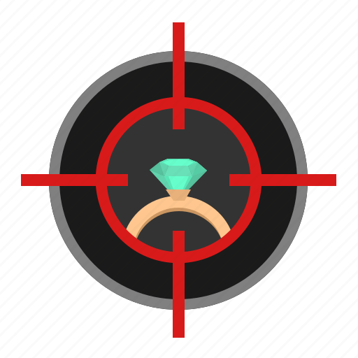 aim, brilliant, diamond, kill, ring, target icon