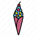 cold, fruit, ice, lykone, yoghurt icon