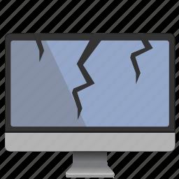 broken, display, mac, monoblock, screen icon