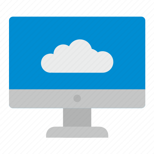 cloud, function, screen, technology icon
